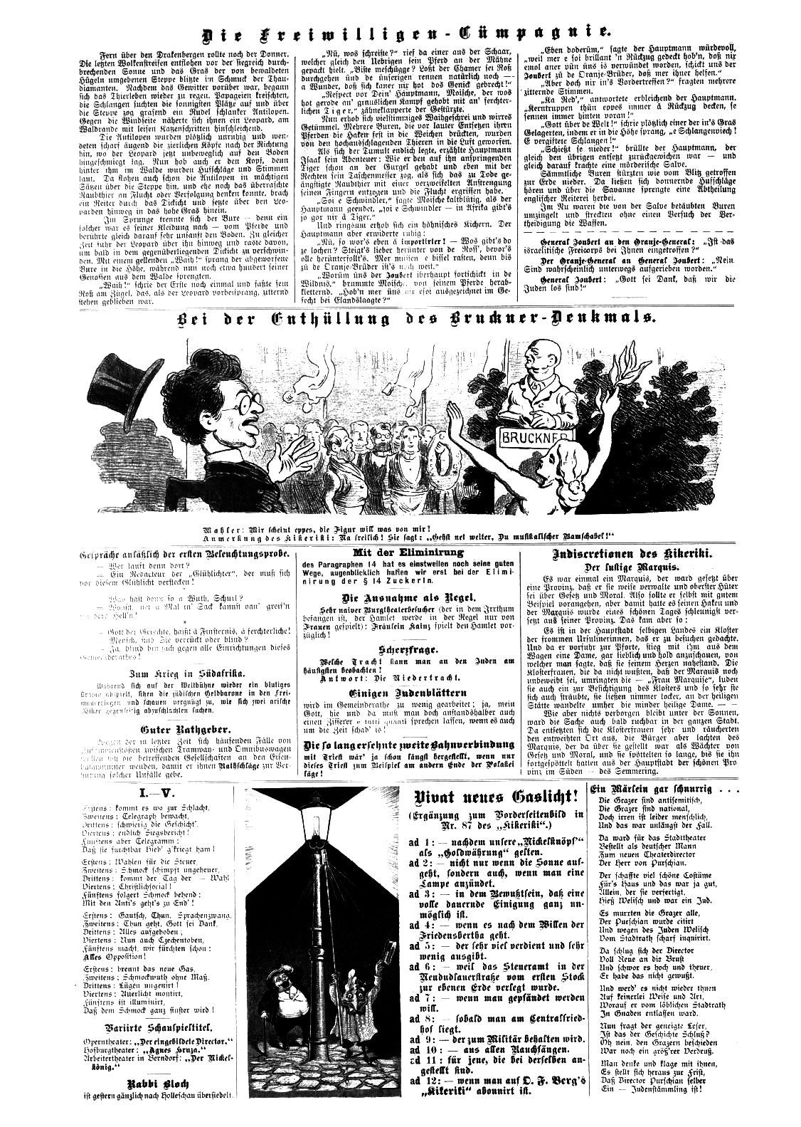 The cartoon as shown in the newspaper