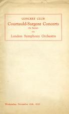 London Symphony Program: 1929 Concert / Bruckner 8th / Klemperer