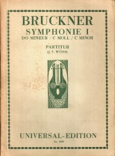 Woess, Josef V.: Forwards to the Universal Editions of the Bruckner Symphonies