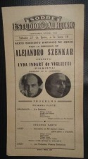 1942 Concert program from Uruguay