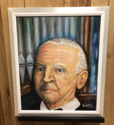 An oil painting by Gerhard Hartig is acquired by the Bruckner Archive