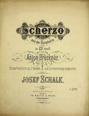Bruckner Archive acquires two piano transcriptions by Josef Schalk