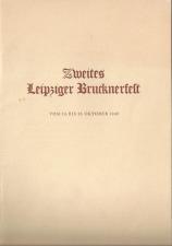 Bruckner Archive acquires a 1940 Leipzig Brucknerfest Program book