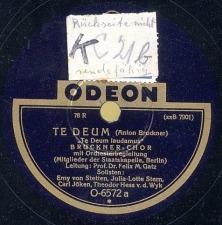 February, 2012: Te Deum (excerpts)  / Felix Maria Gatz, conductor