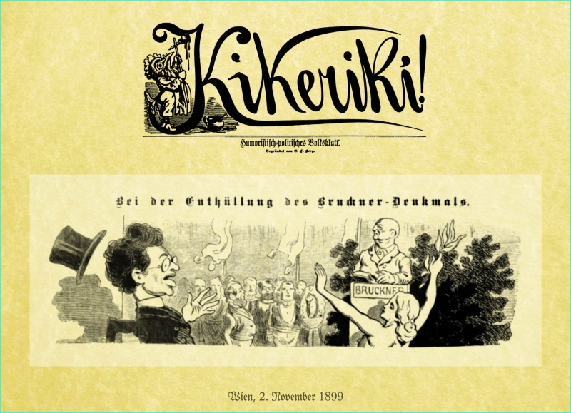 An old cartoon involving Mahler and the Bruckner Monument in Vienna