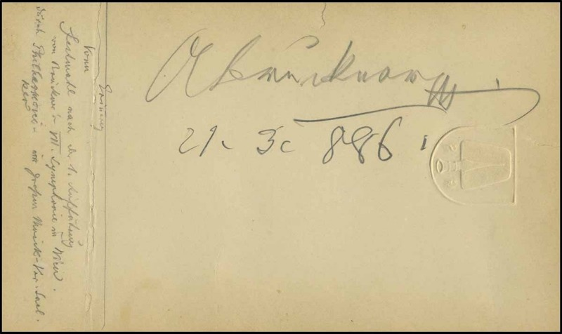 An unusual Bruckner signature