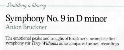 BBC Music Magazine's December 2017 issue features a Bruckner Article