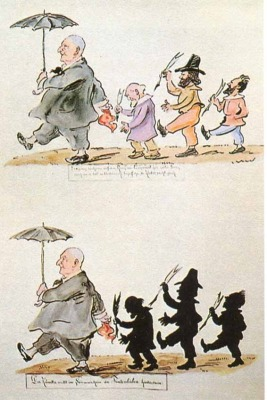 The story behind the famous Bruckner caricature