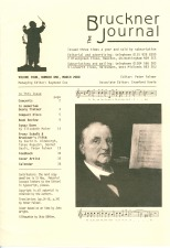 The Bruckner Journal