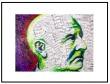 """Framed Bruckner Graphic: """"Music On His Mind"""", by Lisa Elle Anders"""